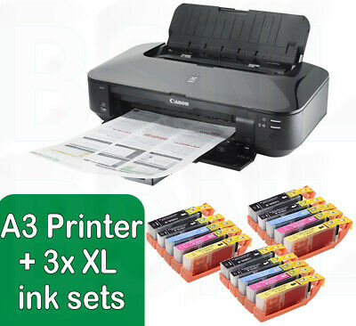Canon PIXMA IX6850 A3 Wireless Wi-Fi Office A3+ Air Printer + 3 Set Of XL Inks  • 219.88£