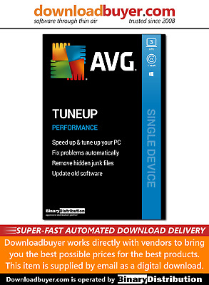 AVG PC TuneUp 2020 - 3 PC - 1 Year [Download] • 13.99£