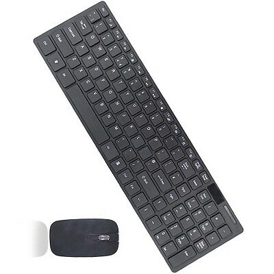 Slim 2.4G  Wireless Keyboard And Cordless Optical Mouse Combo For PC Black • 12.95£