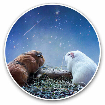 2 X Vinyl Stickers 7.5cm - Cute Guinea Pig Funny Love Cool Gift #2036 • 2.49£