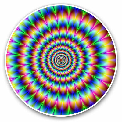 2 X Vinyl Stickers 7.5cm - Psychedelic Pattern Rainbow Cool Gift #8946 • 2.49£