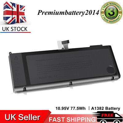 6 Cell Battery For Apple MacBook Pro Unibody 15  I7 A1382 A1286 Early 2011 2012  • 20.99£
