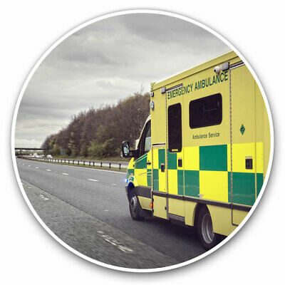 2 X Vinyl Stickers 10cm - Ambulance Emergency Services Cool Gift #15804 • 2.49£