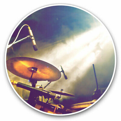 2 X Vinyl Stickers 10cm - Drum Kit Music Band Gig Cool Gift #16491 • 2.49£