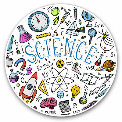 2 X Vinyl Stickers 10cm - Science Physics Chemistry Biology Cool Gift #14850 • 2.49£