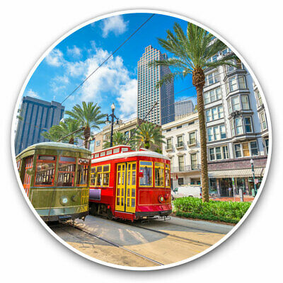 2 X Vinyl Stickers 10cm - Trams Trolleybus New Orleans USA Cool Gift #15693 • 2.49£