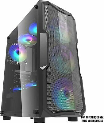 Ionz Kz05 Atx M/atx Pc Gaming Mesh Mid Tower Case  - No Fans Included • 29.95£