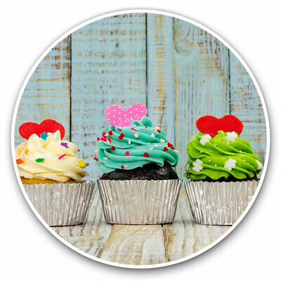 2 X Vinyl Stickers 25cm - Delicious Cupcakes Cake Cool Gift #14266 • 7.99£