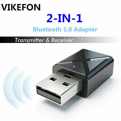 2 In1 USB Bluetooth 5.0 Transmitter Receiver AUX Audio Adapter For TV/PC/Car • 4.29£