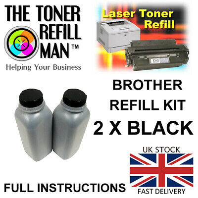 Toner Refill Compatible With Brother TN-2420, TN-2410 Cartridges 2 X Refill Kits • 23.84£