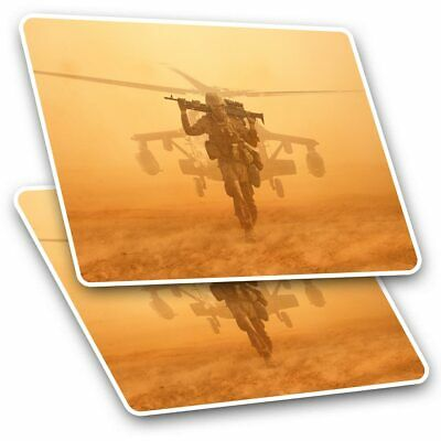 2 X Rectangle Stickers 10 Cm - Soldier At War Helicopter Military #24477 • 2.49£