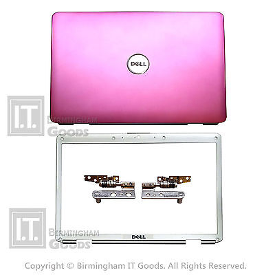 DELL INSPIRON 1525 1526 COVER LID PINK With BEZEL HINGES WIRES SET TY055 • 13.95£
