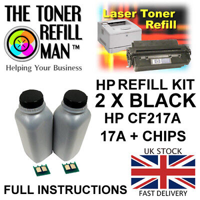 Toner Refill Kit For Use In HP LaserJet Pro MFP M130NW CF217A Black 17A • 43.70£