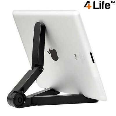 4Life™ Compact Portable Adjustable Tablet Stand For IPad, Galaxy Tab Etc - Black • 5.95£