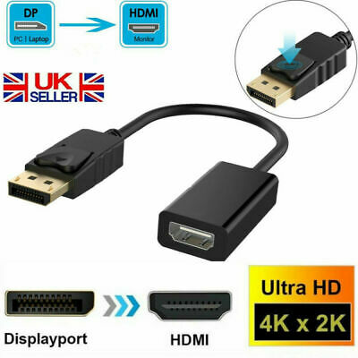 4K HD Display Port DP Male To HDMI Female Adapter Converter For 1080P HDTV PC UK • 3.99£