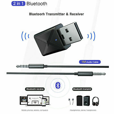 USB Bluetooth 5.0 Wireless Audio Music Stereo For TV PC Adapter Dongle Receiver • 4.29£