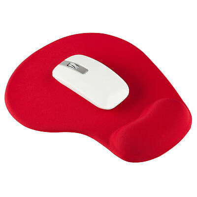 Red Mouse Pad Gel Wrist Rest Support Mat Slip Resistant For PC Laptop Table Desk • 4.49£