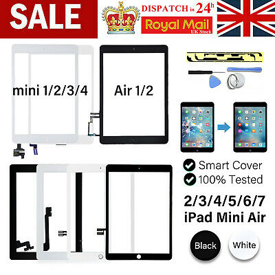 For IPad Mini 1/2/3/4 5/6/7 Air 1/2 Screen Replacement Glass Touch Digitizer +IC • 21.37£