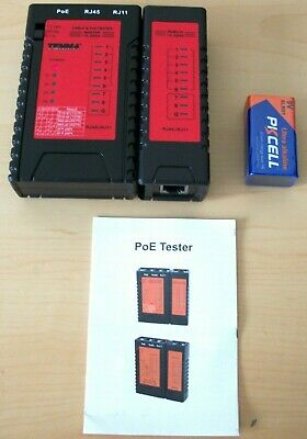 TENMA NETWORK CABLE TESTER And P.O.E TESTER Model: 72-2955 • 27.99£