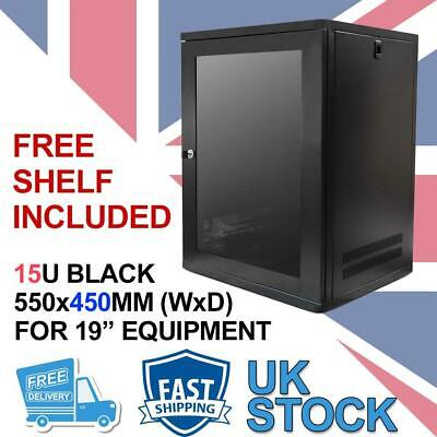 15U 19  450MM Network Cabinet Data Comms Wall Rack For Patch Panel, Switch, PDU • 84.99£