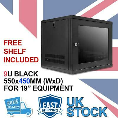 9U 19  450MM Network Cabinet Data Comms Wall Rack For Patch Panel, Switch, PDU • 71.99£