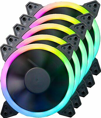 RGB HALO RING 120MM FAN PC CASE LED 12CM Various Connectors By IONZ 4 6 PIN FANS • 9.95£