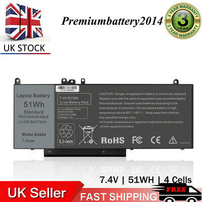 51Wh Battery For Dell Latitude E5250 E5450 E5550 Laptop 15.6  G5M10 0WYJC2 1KY05 • 34.99£