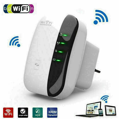 Plug WiFi Signal Repeater Extender Range Booster Internet Network Amplifier UK • 11.45£