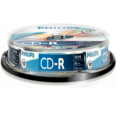 Philips CD-R | Premium Blank Recordable CD Discs In Sleeves | 80 Min 52x 700MB • 5.95£