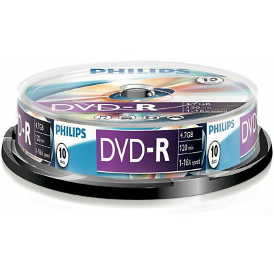 Philips DVD-R | Premium Blank Recordable CD Discs In Sleeves | 4.7GB/120 Min/16x • 5.99£