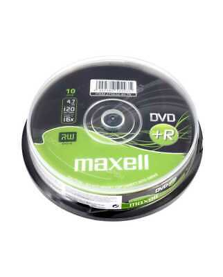 Maxell DVD+R Recordable Blank DVD Discs In Sleeves 1/5/10 Pack 4.7GB 120 Min 16x • 1.95£