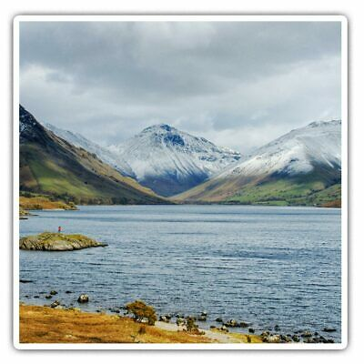 2 X Square Stickers 10 Cm - Scafell Pike From Wastwater Lake District  #46281 • 2.49£