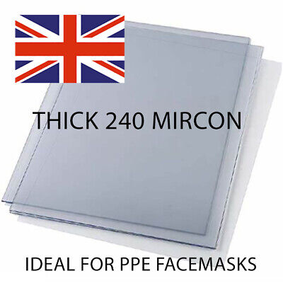 Thick A4 240 Micron Acetate PVC Transparency Sheets. Pk Of 10 And 20. • 10.45£