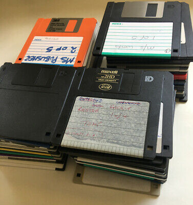 """3.5"""" Diskettes-Disks X 77 Qty - USED - BLANK -Data Removed In VGC-Various Brands • 3.99£"""
