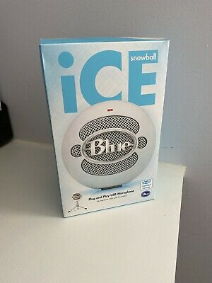 Blue Microphones Snowball ICE USB Cardioid Microphone - White (Boxed, VGC) • 12.50£