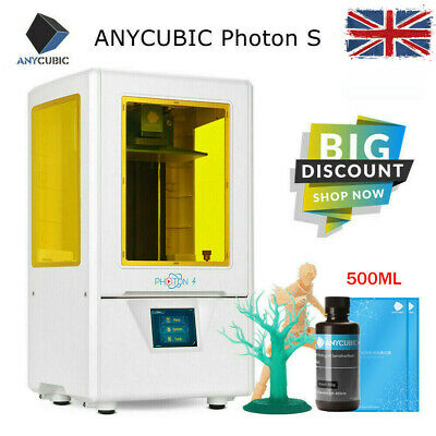 ANYCUBIC UV Matrix LCD Photon S 3D Printer Dual Z-axis Linear Rail 405nm Resin • 205£