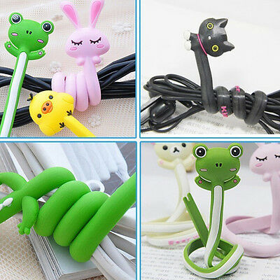 Animal Earphone Headphone Wrap Cord Wire Cable Holder Winder Organizer 2 RA • 3.54£