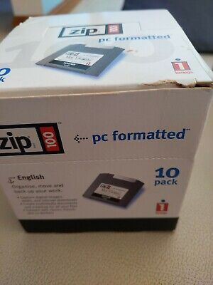 Iomega Zip 100 Disks PC Formatted New Sealed X 7 • 25£