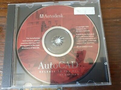 AutoCAD Release 13 For PCs C4 Version Installation CD:ROM Software • 4.99£