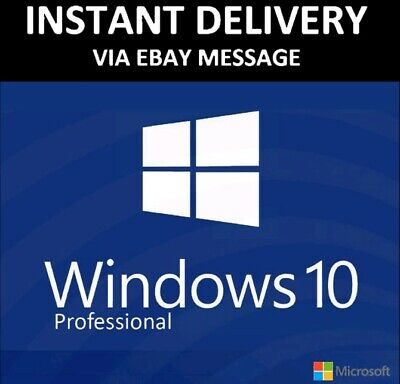 Windows 10 Professional Activate Product Key 32/64 Bits Instant Send Worldwide • 2£