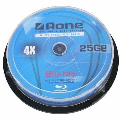 Aone Blu Ray 25GB | Recordable Blank BD-R Discs | Inkjet Printable 1/5/10 Pack  • 6.49£