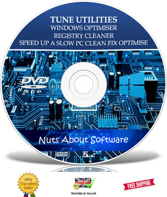 Tune Utilities - Speed Up My Pc - Registry Cleaner Windows Pro Software Cd • 3.95£