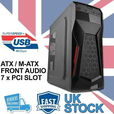 Gaming ATX / M-ATX Tower Computer PC Case - Black • 22.50£