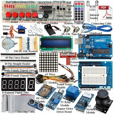 Kit 32 Lessons Ultimate Starter Learning For Arduino For UNO R3 LCD1602 Motor 🔥 • 25.55£