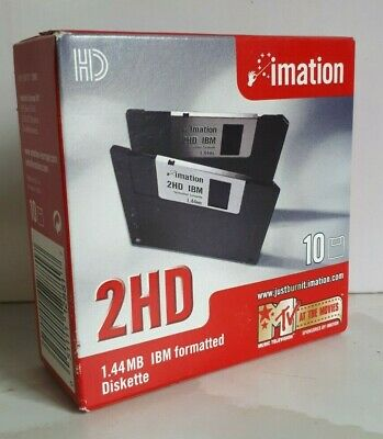 Imation IBM Formatted 2HD Diskettes Pack Of 10 Sealed • 17.50£