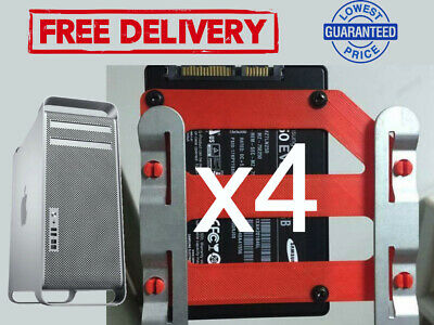 X4 MAC PRO SSD HHD DRIVE SLED ADAPTER 2.5 TO 3.5 SOLID STATE DRIVE CONVERTER • 49£