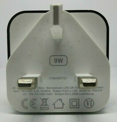 Amazon Genuine Power Supply 9W 5.2V 1.8A USB Charger • 8.99£