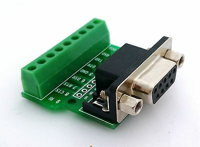 DB9 DSUB 9-pin Female Adapter RS-232 Breakout Board Connector (D2) • 4.75£