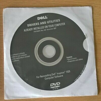 DVD-ROM Dell Drivers & Utilities Inspiron 1525 Computer Software New  • 4£