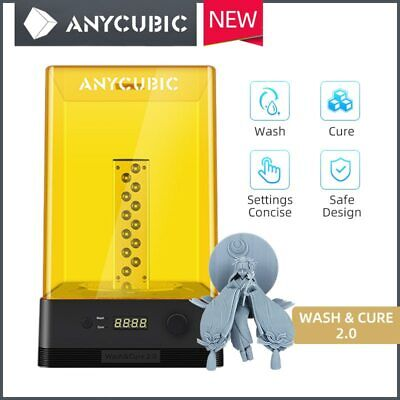 Anycubic Wash & Cure 2 In 1Machine Used For UV LCD Resin 3D Printer UK Plug • 125£